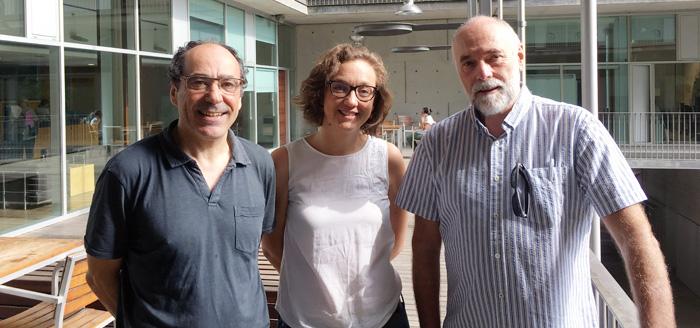 D'esquerra a dreta: Jordi Alonso, Mª Jesús Alonso i Víctor Pérez