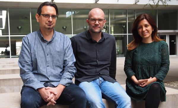 Israel Fernandez, Jordi Jimenez y Caty Carrera
