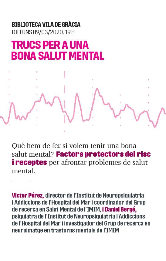 CANCEL·LAT: Trucs per a una bona salut mental